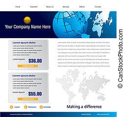 website, šablona