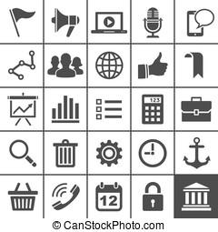 website, 25, iconen, universeel, app, set., pictogram