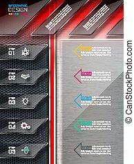 website, abstract, infographics, elements., etiket