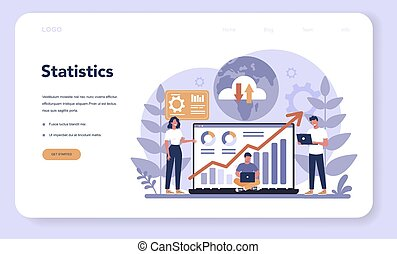 Website analysis concept web banner or landing page. Web page