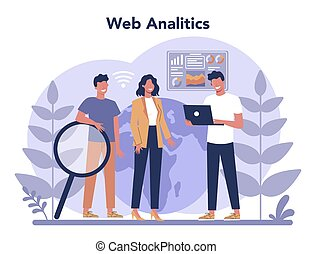 Website analysis concept. Web page improvement for business