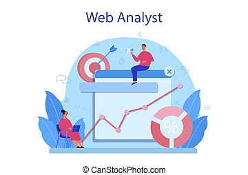Website analyst concept. Web page improvement for business