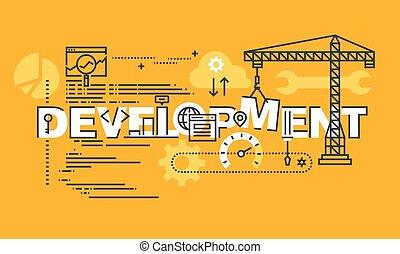 Website and app design development