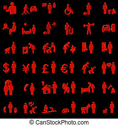 Website and Internet 3D Icons - People