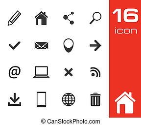 Website and Internet Icons on white background