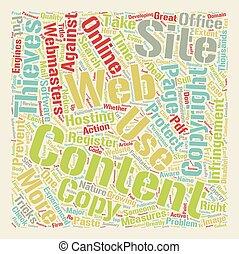 website, asekurować, pojęcie, tekst, zadowolenie, jak, wordcloud, tło, twój
