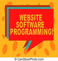 website, balloon., anders, of, programmering, zakenkleur, tekst, het tonen, programming., coderen, schrijvende , aantekening, opgestapelde, toespraak, foto, showcasing, enables, bel, stapel, software