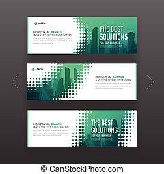 website, banner, abstrakt, slideshow, schablone, horizontal, korporativ, oder
