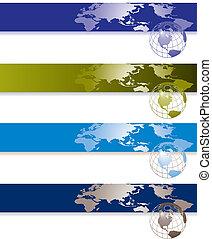 Website banner backgrounds. Three vector corporate...