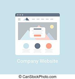 Website, bedrijf,  Wireframe