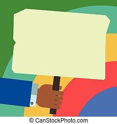 website, begriff, plakat, anzeige, geschaeftswelt, raum, text, freigestellt, analyse, hu, vektor, design, stock, schablone, leer, hand, kopie, besitz, leerer , gefärbt