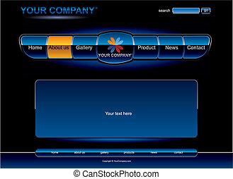 Website blue radio chrome template