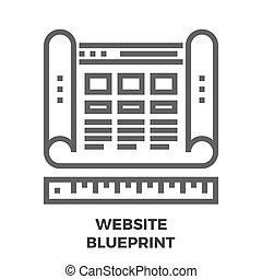 Website Blueprint Line Icon