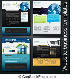 website business templates set 03