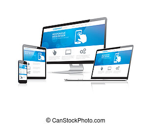Website coding development with responsive web design...