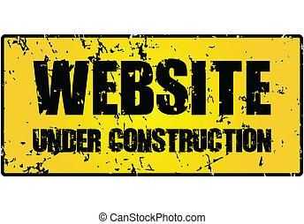 """website, construction"", κάτω από , σήμα"