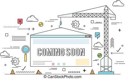 Website construction concept