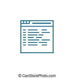 Website content linear icon concept. Website content line vector sign, symbol, illustration.