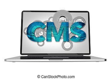 Website Content Management System Via Computer Screen...