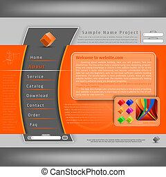 website, design, šablona