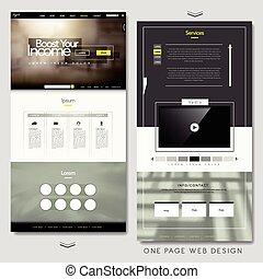 website, design, seite, schablone, eins
