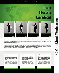 Website design template for business people