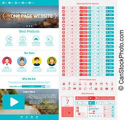 Website design template - One page website design template...