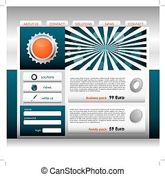 Website design template