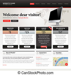 Website design template - Vector template for website design...