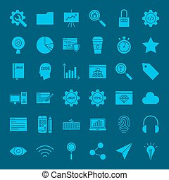 Website Development Glyphs Icons