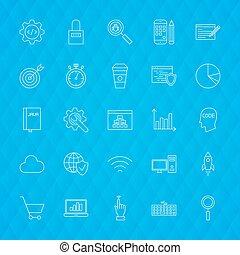 Website Development Line Icons