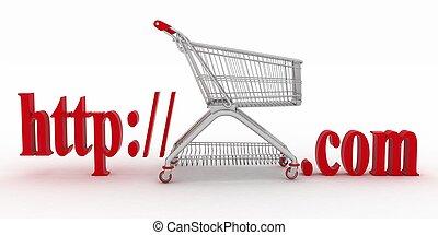 website., e-affaires, visiter, concept