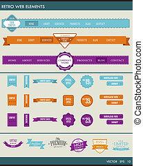 Website elements web navigation - Website design elements...