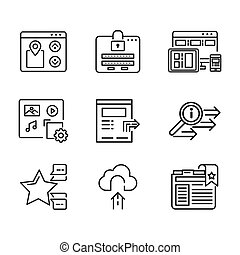 website feature icon set
