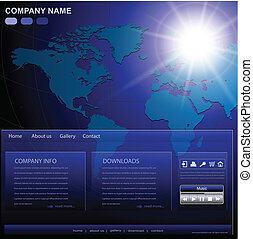 website, firma, skabelon