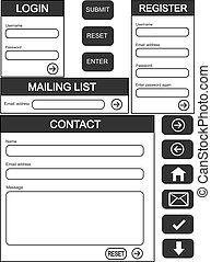 Website forms - Website login, contact and register form +...