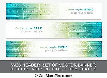 website, freigestellt, oder, kopfsprung, vektor, design, schablone, banner, abstrakt