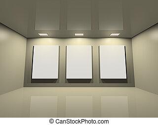 Website gallery - clean creme grey - Virtual exposition -...