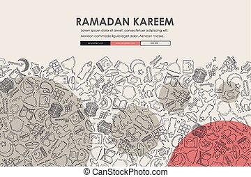 website, gekritzel, design, ramadan, schablone