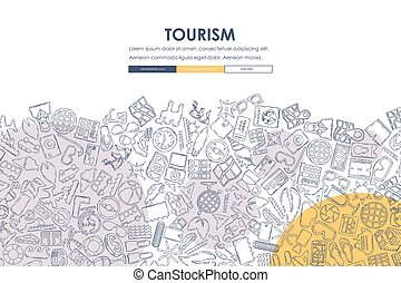 website, gekritzel, design, tourismus, schablone