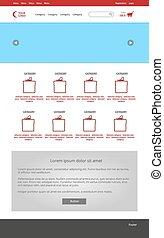 Website graphic design. Modern responsive web layout