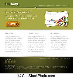 website, guzik, nowoczesny, szablon, ładny