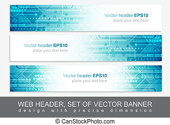 Website header or banner, vector abstract design template