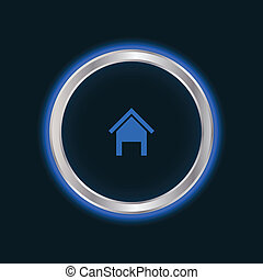 website home button, vector EPS10