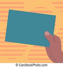 website, hu, begriff, anzeige, geschäftsfarbe, medien, vektor, sozial, analyse, hand, papier, design, präsentieren, besitz, leer, gezeichnet, banner, pappe, beförderung, leerer