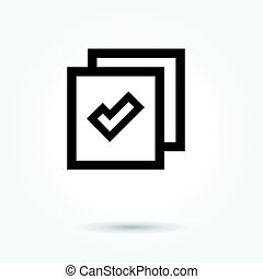 Website icon vector on white background