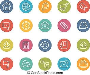 website, iconen