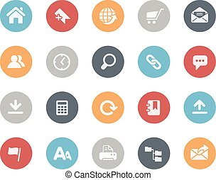 Website Icons Classics Series - Vector icons for your web,...