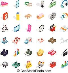 Website icons set, isometric style