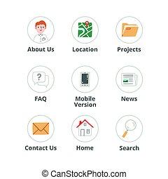 Website icons set